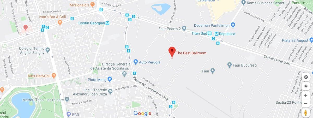 locatia pe harta The Best Ballroom Bucuresti